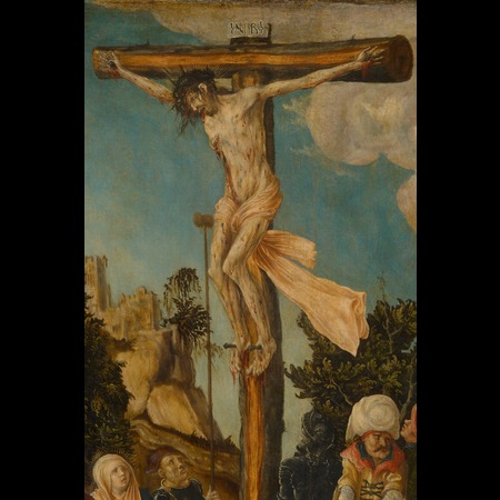 Lucas Cranach the Elder - Kunsthistorisches Museum, Vienna - The Crucifixion of Christ, the so-called Schottenkreuzigung - Detail Images