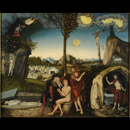 Cranach - Law and Grace