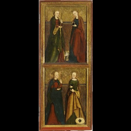 Cranach - St Ursula, Agnes, Apolonia and Christine [recto], St Sigismund [verso] (right wing of the so-called Altarpiece of Litomerice)