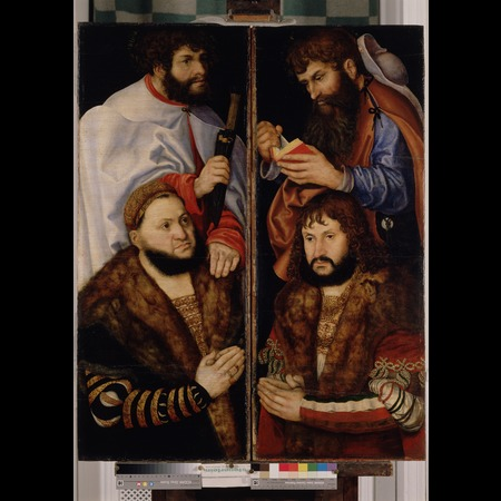 Lucas Cranach the Elder - Anhaltische Gemälde-Galerie, Dessau - Altarpiece of the Virgin, or so-called Princes' Altarpiece [left wing] - Overall