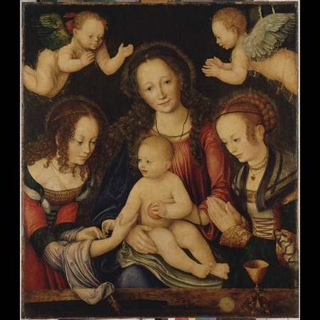Lucas Cranach the Elder - Anhaltische Gemälde-Galerie, Dessau - Altarpiece of the Virgin, or so-called Princes' Altarpiece [central panel] - Overall
