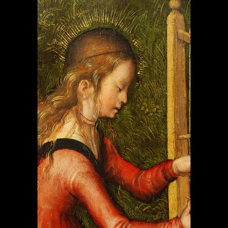 Lucas Cranach the Elder - Anhaltische Gemälde-Galerie, Dessau - Education of the Virgin Mary [right wing of a Lady Altar] - Detail Images