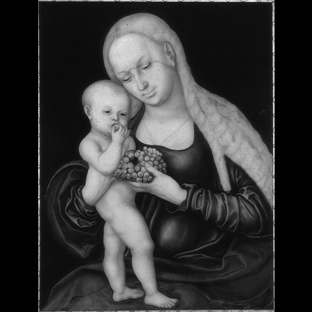 Lucas Cranach the Elder - Burg Eltz, Münstermaifeld - Virgin with child nibbling grapes - Infrared Images
