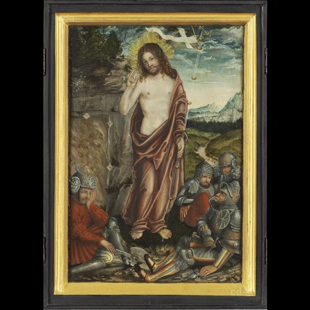 Cranach - Small retabel with the resurrection of Christ [central panel]