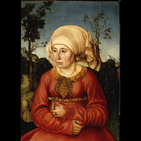 Cranach - Portrait of the wife of a Jurist