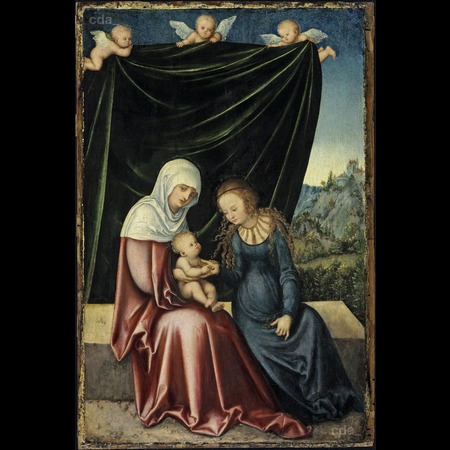 Cranach - The Virgin and Child with St Anne