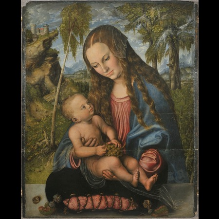 Cranach - Virgin and Child (Called the Madonna under the Firs)