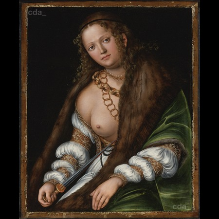 Lucas Cranach the Elder - Private Collection - Lucretia - Overall