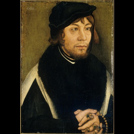 Cranach - Portrait of Margrave Albrecht of Brandenburg-Ansbach