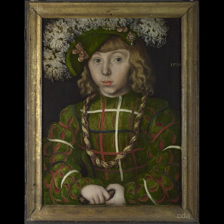 Cranach - Portrait of Johann Friedrich the Magnanimous from Diptych: Two Electors of Saxony