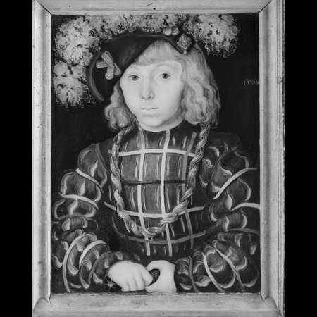 Lucas Cranach the Elder - The National Gallery, London - Portrait of Johann Friedrich the Magnanimous from Diptych: Two Electors of Saxony - Infrared Images