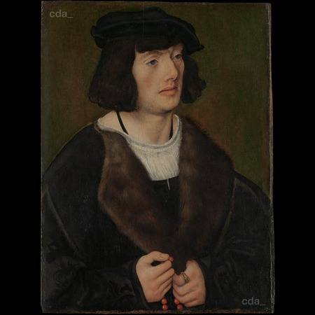 Cranach - Portrait of a Man with a Rosary