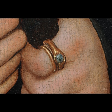 Lucas Cranach the Elder - The Metropolitan Museum of Art, New York - Portrait of a Man with a Rosary - Detail Images